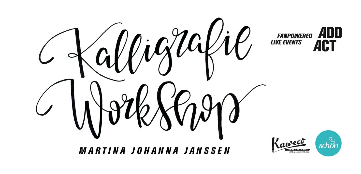 Kalligrafie Workshop - Es war besondersschön - Lettering by mj