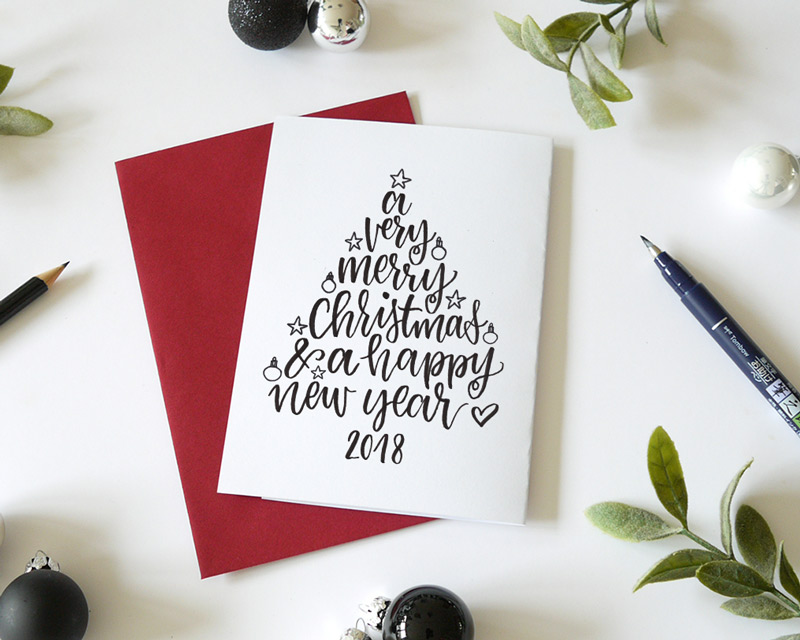 handlettering weihnachtskarte christmas lettering workshop. Black Bedroom Furniture Sets. Home Design Ideas