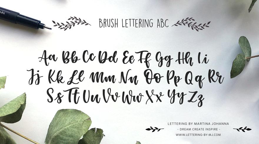 Brush Lettering Alphabet, Lettering Alphabet, Lettering DIY
